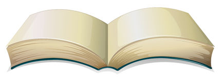 An empty thick book. Illustration of an empty thick book on a white background Stock Images