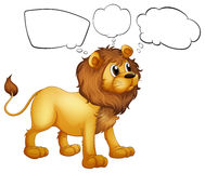 Empty thoughts of a scary lion Stock Photo