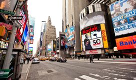 Empty Times Square in morning Stock Images