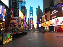 Empty Times Square. Times squares at 7am stock image