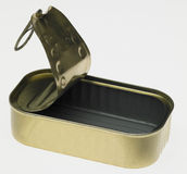 Empty tin. Still life of empty tin Royalty Free Stock Photography