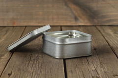 Empty tin box Royalty Free Stock Images