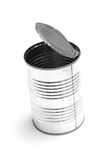 Empty tin can. An empty tin can isolated Stock Photography