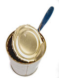 Empty tin can Stock Image