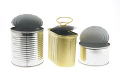 Empty Tin Cans Royalty Free Stock Photography