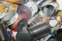 Free Empty Tin Cans With Labels Stock Photo - 60925240