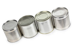 Empty tins Stock Photo