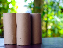 empty tissue paper roll Stock Photos