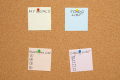 Empty to-do lists (sticky notes) Stock Photo