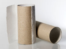Empty toilet paper roll without paper Stock Image