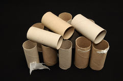 Empty Toilet Paper Roll Stock Image