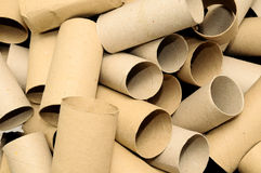 Empty Toilet Paper Roll stock photo