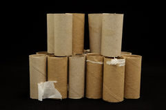 Empty Toilet Paper Roll Royalty Free Stock Image