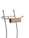 Empty toilet paper roll on the stand Royalty Free Stock Photo