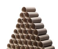 Empty toilet paper rolls Stock Photos