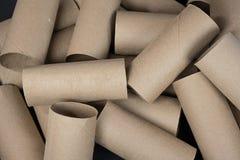 Empty toilet paper rolls Stock Photography