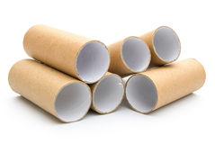 Empty toilet rolls Stock Photo