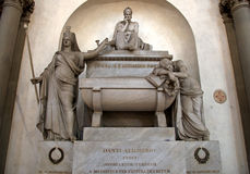 Empty tomb of Dante Alighieri in Basilica of Santa Croce, Florence. Details of the empty tomb of Dante Alighieri in Basilica of Santa Croce, Florence. Despite stock photo