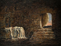 The Empty Tomb Painting. The empty tomb - oil painting on linen stock images