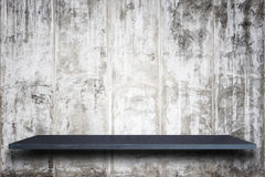 Empty top of natural stone shelves and stone wall background Stock Photography