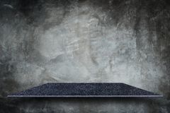 Empty top of natural stone shelves and stone wall. For product d royalty free stock photography