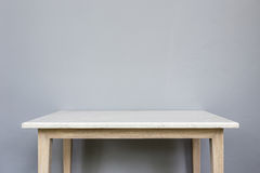 Empty Top Of White Mable Stone Table On Grey Wall Background Stock Images
