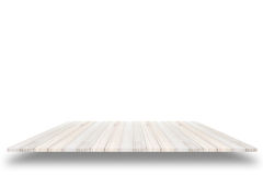 Empty top view of wooden table or counter (shelf) isolated on wh Royalty Free Stock Image
