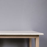Empty top of white mable stone table on grey wall background Royalty Free Stock Photos