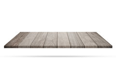 Empty top of wooden flooring isolated on white background royalty free stock image