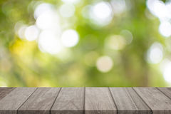 Empty top wooden table stock photo