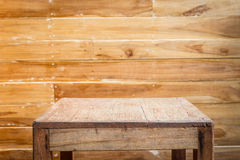 Empty top wooden table and wooden wall background Stock Photography