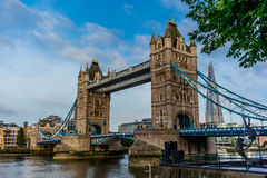 Empty Tower Bridge early in the morning - 4 Royalty Free Stock Photo