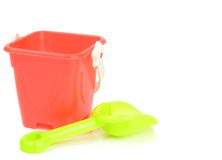 Toy bucket and spade Stock Images