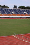 Empty track and field stadium Stock Image