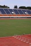 Empty track and field stadium Stock Image