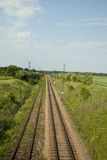 Empty track of railway Royalty Free Stock Photos