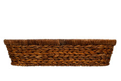 Empty Traditional Rustic Wicker Basket Isolated Royalty Free Stock Image