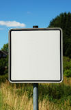 Empty traffic sign (Germany). Blank traffic sign for grafic work Royalty Free Stock Photography