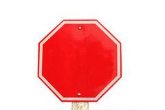 Empty traffic stop sign Stock Photo
