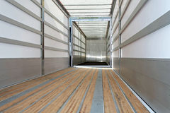 Empty trailer horizontal Royalty Free Stock Images