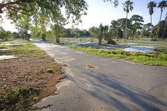 Empty Trailer Park Stock Images
