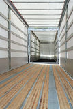 Empty trailer vertical Royalty Free Stock Images