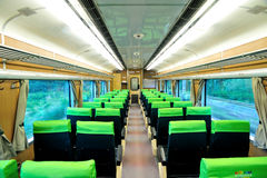 Empty Train. Empty Taiwan Train in motion Royalty Free Stock Images