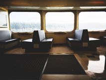 Empty train compartment  Royalty Free Stock Photos