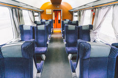 Empty train compartment Stock Photos
