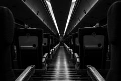 Empty Train stock photography