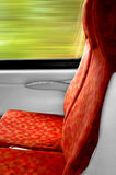 Empty train seat - reservation Royalty Free Stock Photography