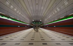Empty Train Station Stock Images