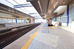 Empty train station Royalty Free Stock Photo