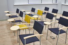 Empty training class. With modern chairs Stock Photo